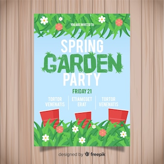 Grass spring party poster