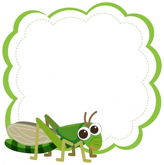 A grasshopper on note template