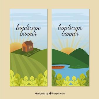 Grassland landscape banners