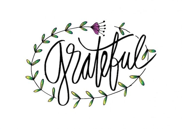 Grateful  hand lettering.