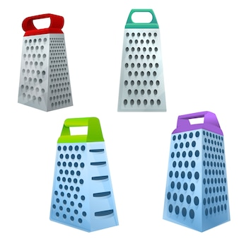 Grater icons set