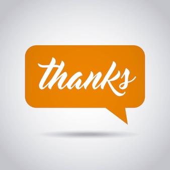 Gratitude message label isolated icon