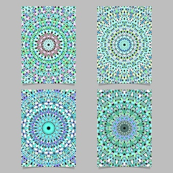 Gravel mosaic mandala pattern poster background set