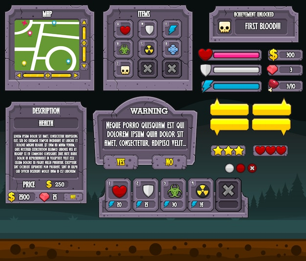 Graveyard game gui