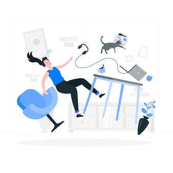 Gravity concept illustration