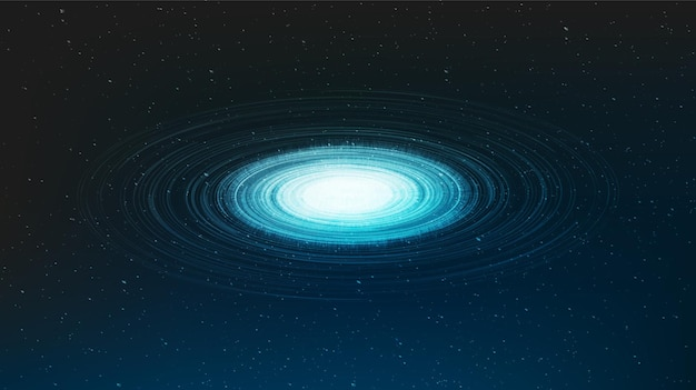 중력 빛 나선 블랙홀 배경