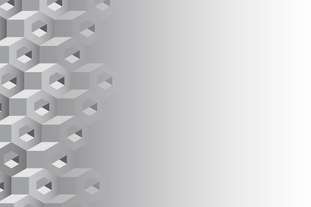 Gray 3d hexagonal background