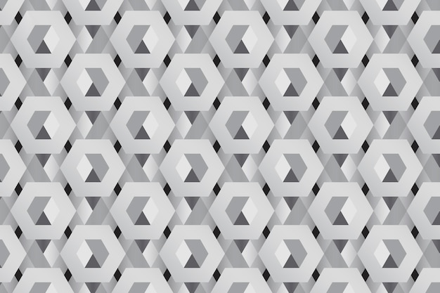 Gray 3d hexagonal pattern background