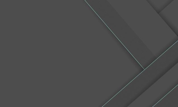青の線で白と灰色のストライプと灰色の抽象的な背景