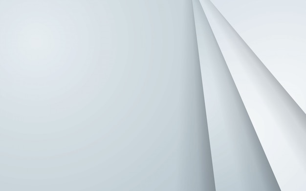 Gray abstract background with white overlap layers.