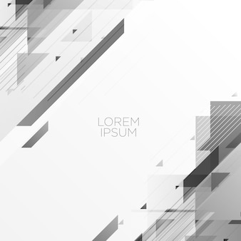 Gray abstract geometric background design