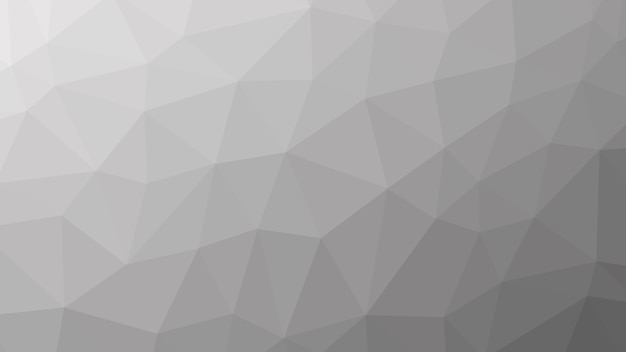 グレー抽象幾何学的な低ポリ三角形のパターン