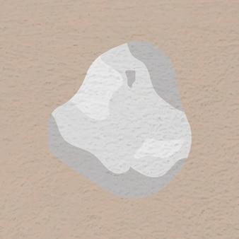 Forma di pietra astratta grigia, vettore adesivo