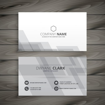 Gray and white business card in abstract style