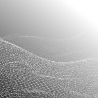 流れるグリッドデザインの抽象的な背景