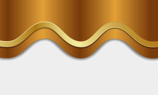 Gray background with abstract bronze and golden wave line stripes . luxury design for your web.