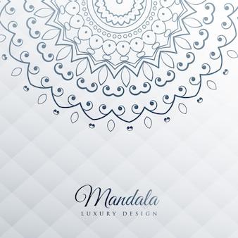 Gray background with mandala decoration