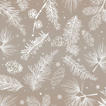 Gray background with winter decoration vector