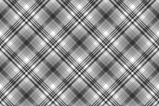 Gray black white pixel check plaid seamless pattern