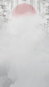 Gray blank leafy frame