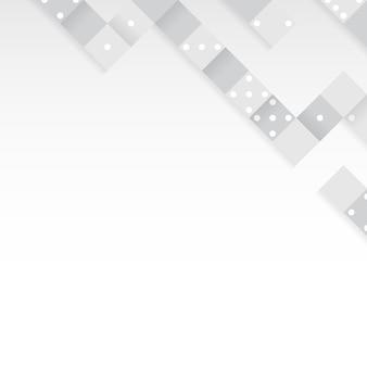 Gray blocks on blank white background vector