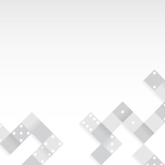 空白の背景ベクトルのグレーブロック