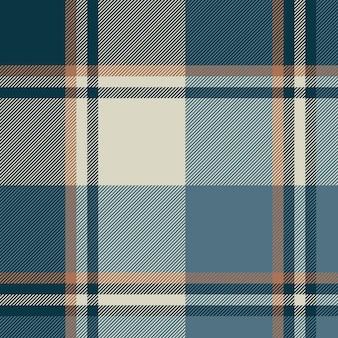 Gray blue check plaid seamless pattern