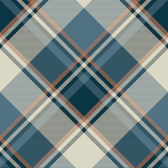 Gray blue check plaid seamless pattern