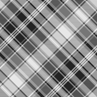 Gray check fabric texture seamless pattern