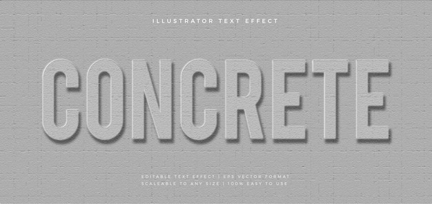 Серый бетонный эффект шрифта для тиснения