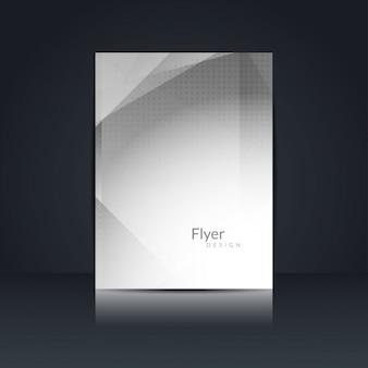 Серый цвет дизайн многоугольник флаер