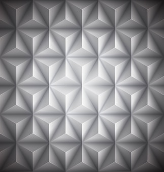 Gray geometric abstract low-poly paper background.