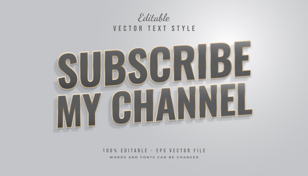 Gray and gold text style with shadow effect