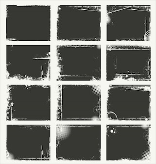 Gray grunge background collection