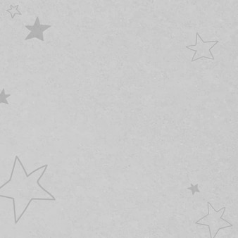 子供のための灰色の手描きの星のテクスチャパターン
