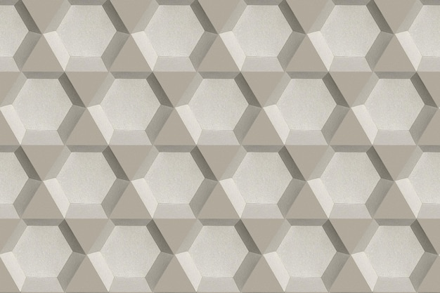 회색 육각형 종이 공예 무늬 배경