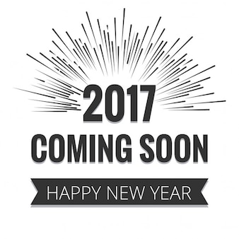 Gray lettering on white background for the new year