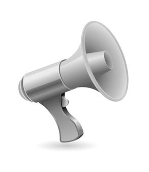 Gray loud speaker icon