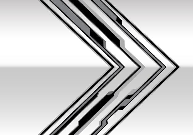회색 금속 화살표 사이버 미래 기술 배경입니다.