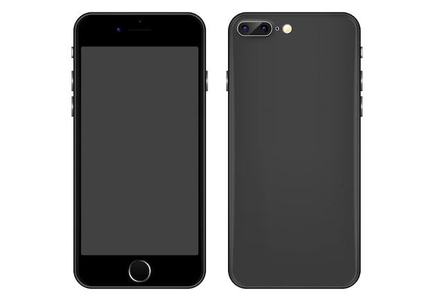 Gray mobile phone vector template
