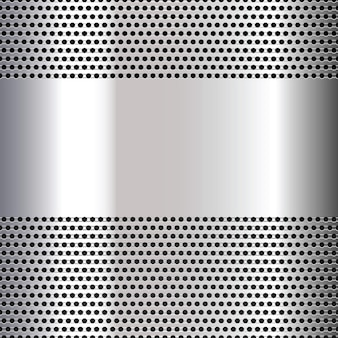 Gray perforated background