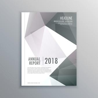 Шаблон обложки страницы бизнес-журнал в a4 макет