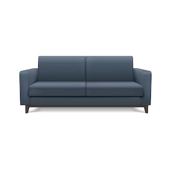 Серый реалистичный современный диван. мебель для гостиной или гостиной.
