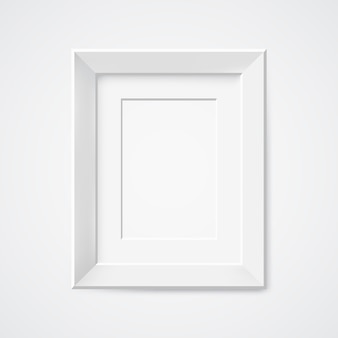 Gray rectangular photo frame with shadow