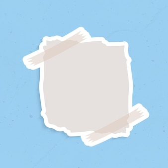 灰色のリマインダーノートステッカーベクトル