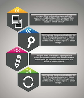 Gray seo labels over gray background vector illustration