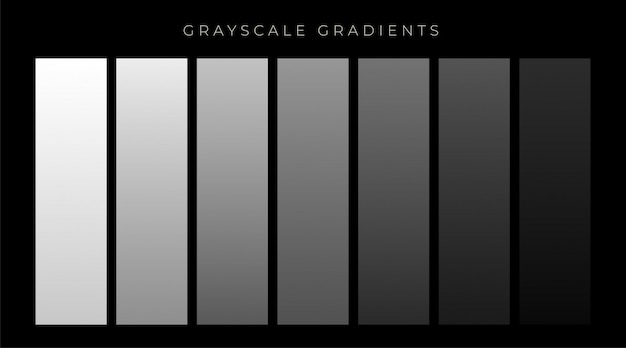 Gray shades gradients set background