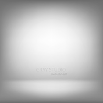 Gray studio gradient wall room, modern interior background