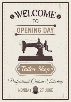 Gray tailor poster