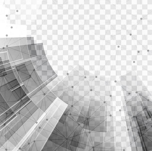 투명한 배경에 회색 기술 요소